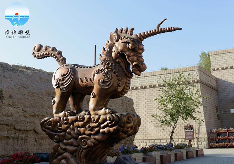 《獬豸(xie  zhi)法兽雕塑》