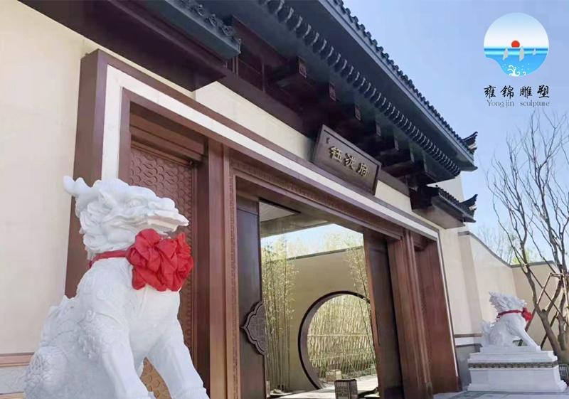 新汉白玉麒麟雕塑
