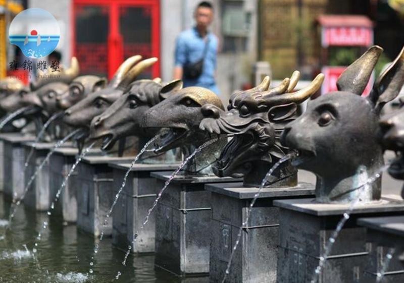 十二生肖喷水雕塑