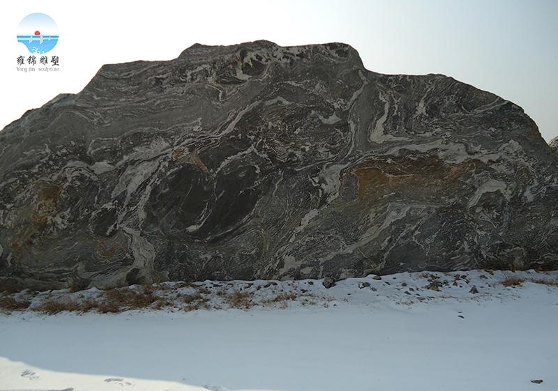 自然石雪浪石
