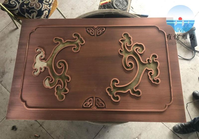 门牌 不锈钢镀铜工艺 —铸铜锻铜雕塑